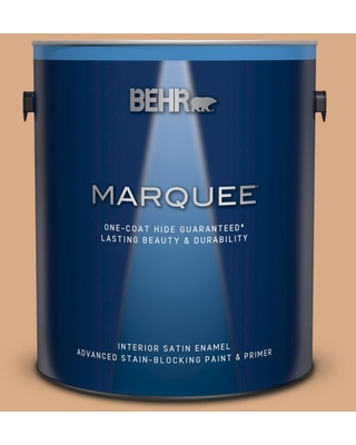 BEHR MARQUEE 1 gal. #BXC-67 Santa Fe Tan Satin Enamel Interior Paint and Primer in One