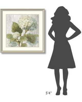 """East Urban Home 'Scented Cottage Florals IV Crop' Print ESUN1529 Size: 33.25"""" H x 33.25"""" W Format: White Framed"""