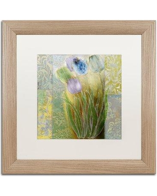 """Trademark Art 'Emily II' by Color Bakery Framed Graphic Art ALI4294-T1 Mat Color: White Size: 16"""" H x 16"""" W x 0.5"""" D"""