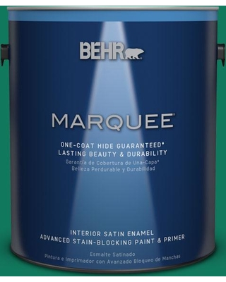 BEHR MARQUEE 1 gal. #MQ4-14 Soapstone One-Coat Hide Satin Enamel Interior Paint and Primer in One