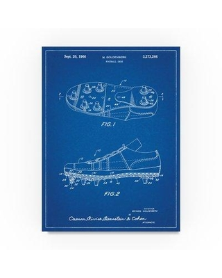 """Trademark Fine Art 'Football Cleat' Drawing Print on Wrapped Canvas ALI22129-C Size: 32"""" H x 24"""" W"""