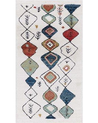 """Bloomsbury Market Hervey White Area Rug BLMS3035 Rug Size: Rectangle 2'7"""" x 4'7"""""""