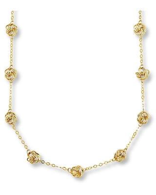 Jared The Galleria Of Jewelry Love Knot Necklace 14K Yellow Gold