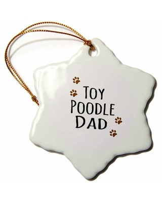Toy Poodle Dog Dad Snowflake Holiday Shaped Ornament The Holiday Aisle®