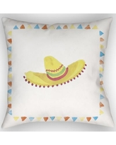 """The Holiday Aisle Sombrero Indoor/Outdoor Throw Pillow HLDY1995 Size: 20"""" H x 20"""" W x 4"""" D"""