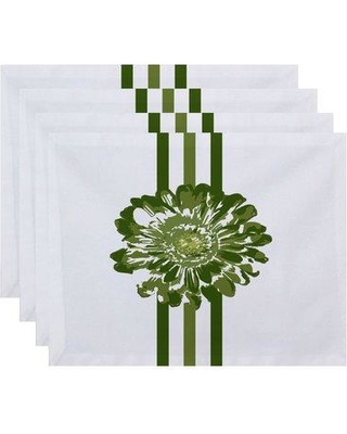 Latitude Run Christena Flower Child Floral Print Placemat LTRN3096 Color: Green