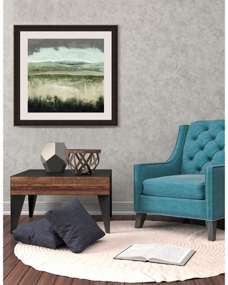 Somerset House Publishing Inc. 26.5 in. x 26.5 in. 'Crystal Moorland II' by Grace Popp Fine Art Paper Print Framed with Glass Wall Art