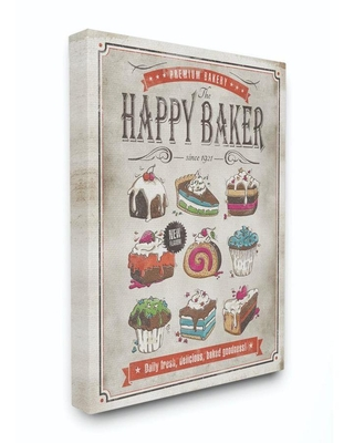 Stupell Industries Stupell Industries Happy Baker Vintage Comic Book Design Stretched Canvas Wall Art by Ester Kay, 16 x 1.5 x 20   EKP-122-CN-16X20