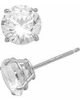 Renaissance Collection 10k White Gold 3-ct. T.W. Stud Earrings - Made with Swarovski Zirconia, Women's