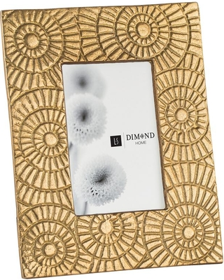 Titan Lighting Ripple Ring 1-Opening 5 in. x 7 in. Gold Picture Frame