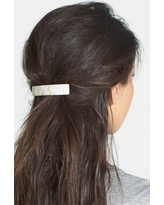 France Luxe Rectangle Barrette, Size One Size - Beige