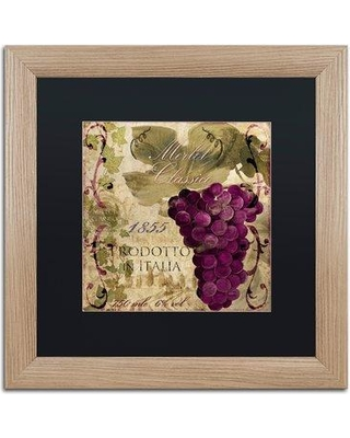 """Trademark Art 'Vino Italiano I' by Color Bakery Framed Vintage Advertisement ALI4163-T1 Mat Color: Black Size: 16"""" H x 16"""" W x 0.5"""" D"""