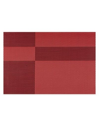 Kraftware™ EveryTable Twill Placemats in Red/Black (Set of 12)