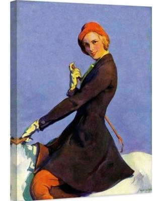 """Marmont Hill Woman on Horseback by Guy Hoff Painting Print on Wrapped Canvas MH-FASGLM-22-C Size: 39"""" H x 30"""" W"""