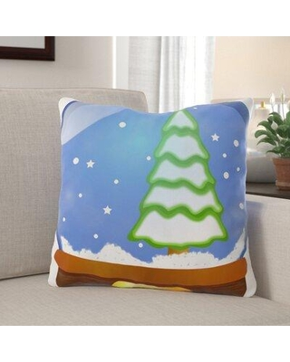 Special Prices On The Holiday Aisle Parkey Snow Globe Indoor Outdoor Canvas Throw Pillow Polyester Polyfill In Brown Blue Green Size 18x18 Wayfair