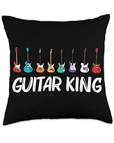 Best Guitar Player Instrument Musician Accessories Cool Guitar Gift For Men Women Acoustic Guitarist Band Music Throw Pillow, 18x18, Multicolor