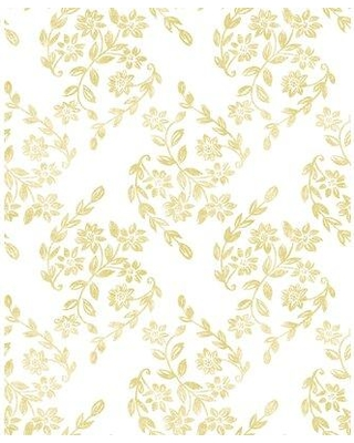 "Gracie Oaks Covarrubias 33' L x 20.5"" W Wallpaper Roll W000318374 Color: Mustard"