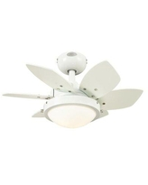 """Ebern Designs 24"""" Chenut 6 - Blade LED Leaf Blade Ceiling Fan w/ Pull Chain & Light Kit Included in White, Size 9.0 H x 6.75 W x 6.75 D in 