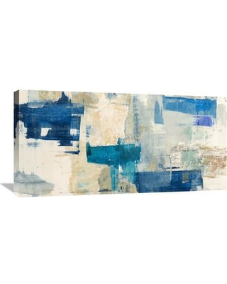 "Global Gallery 'Rhapsody in Blue' by Anne Munson Painting Print on Wrapped Canvas GCS-463403-1224-142 / GCS-463403-1836-142 Size: 18"" H x 36"" W x 1.5"" D"