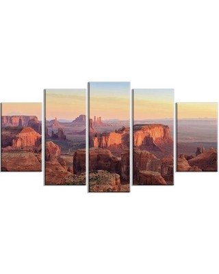 Design Art 'Hunts Mesa Panorama' Photographic Print Multi-Piece Image on Canvas EAOU3652
