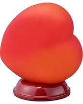Heart Table Lamp - Red - Ore International
