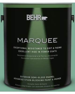 BEHR MARQUEE 1 gal. #MQ6-12 Nature Green Semi-Gloss Enamel Exterior Paint and Primer in One
