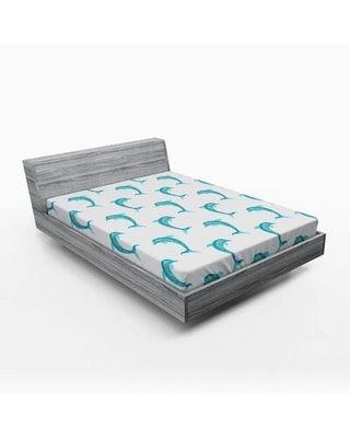 Sea Animals Fitted Sheet East Urban Home Size: Queen