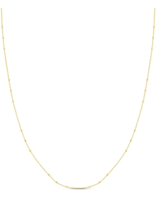 Jared The Galleria Of Jewelry Beaded Chain Necklace 14K Yellow Gold