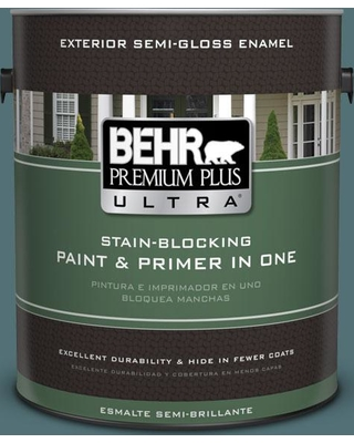 BEHR ULTRA 1 gal. Home Decorators Collection #HDC-CL-22 Sophisticated Teal Semi-Gloss Enamel Exterior Paint & Primer