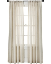 "Leno Weave Sheer Curtain Panel Ivory (54""X84"") - Threshold"