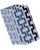 "e by design Cuff-Links Geometric Napkin N4GN123 Size: 19""W x 19""L Color: Blue / Navy Blue"