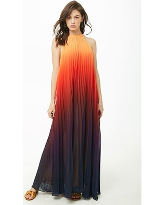a82f617474c Remarkable Deal on Ombre Pleated Maxi Dress