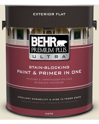 BEHR Premium Plus Ultra 1 gal. #S330-1 Baby Artichoke Flat Exterior Paint and Primer in One