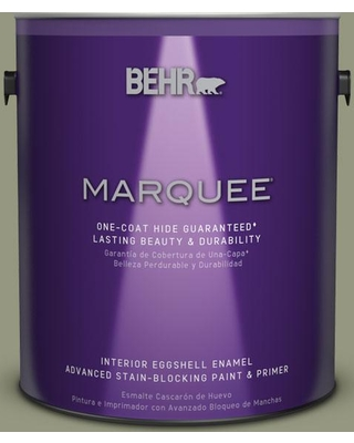 BEHR MARQUEE 1 gal. #S380-5 Milkweed Pod One-Coat Hide Eggshell Enamel Interior Paint and Primer in One
