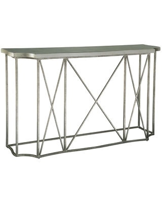 Rectangular Solid Wood and Metal Console Table - Hekman (Silver - Wood)