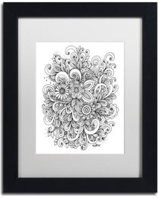 """Trademark Art 'Enchanted Gardens' Framed Graphic Art on Canvas ALI3663-B1 Matte Color: White Size: 20"""" H x 16"""" W x 0.5"""" D"""