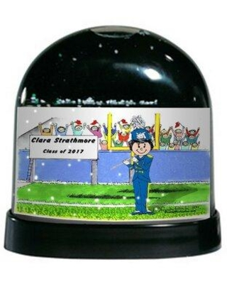 Find The Best Deals On The Holiday Aisle Friendly Folks Cartoon Caricature Female Flute Snow Globe Customize Yes Plastic In Black Size 4 H X 4 W X 3 D Wayfair