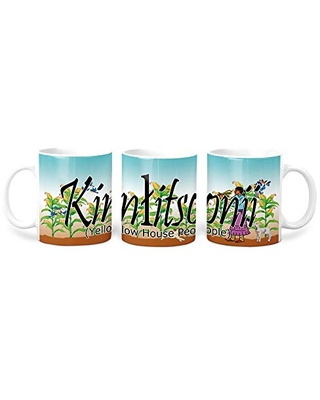 Kinlitsonii (Yellow House People) Navajo Clan 11 Oz Mug with Harvest the Corn Background
