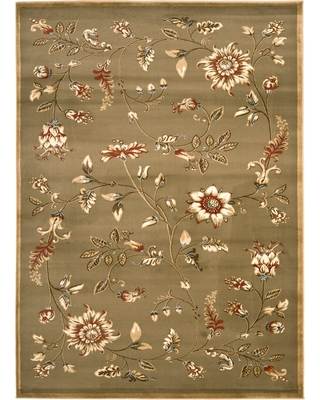 """Green Floral Loomed Accent Rug 3'3""""X5'3"""" - Safavieh"""