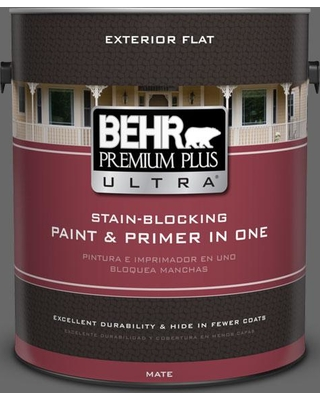 BEHR ULTRA 1 gal. #T11-5 Not So Innocent Flat Exterior Paint and Primer in One