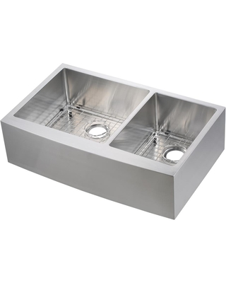 Remarkable Deals On Cmi Asheboro Undermount Stainless Steel 36 In 60 40 Double Bowl Flat Farmhouse Apron Front Kitchen Sink Silver