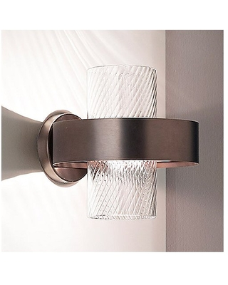 Armonia Wall Sconce by Vistosi - Color: Clear - Finish: Matte - (ARMONAP25-000N_OCRRIG9-1UL)