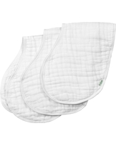 green sprouts Organic Cotton Muslin Burp Cloths 3 pack - White