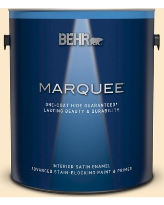 BEHR MARQUEE 1 gal. #YL-W02 Spanish Lace Satin Enamel Interior Paint and Primer in One