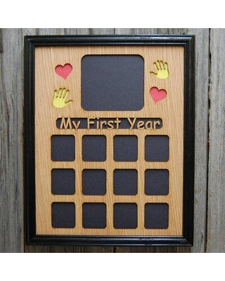 Winston Porter Pablo My First Year Picture Frame W000956020 Color: Black