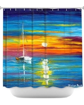 DiaNocheDesigns Lost at Sea Shower Curtain SHO-JessilynParkLostatSea