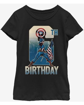 Marvel Captain America 6th Bday Youth Girls T-Shirt