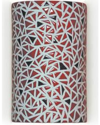 A19 Mosaic Impact 1-Light Wall Sconce M20307 Finish: Matador Red Bulb Type: Incandescent Wet Location Compatible: No