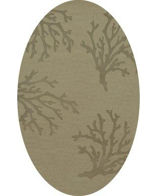 Rosecliff Heights Hiltonia Machine Woven Wool Gray Area Rug W001587934 Rug Size: Oval 10' x 14'