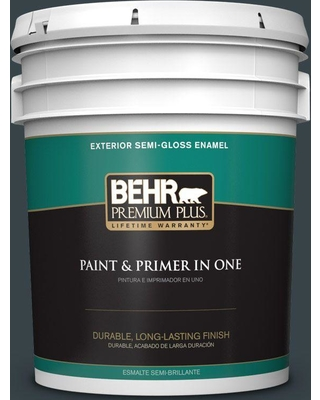 BEHR Premium Plus 5 gal. #740F-7 Night Shade Semi-Gloss Enamel Exterior Paint and Primer in One